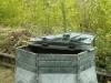bac ‡ compost dans un jardin